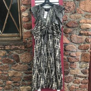 NEW BCBMaxAzria Silk Bow Front Dress Size Medium